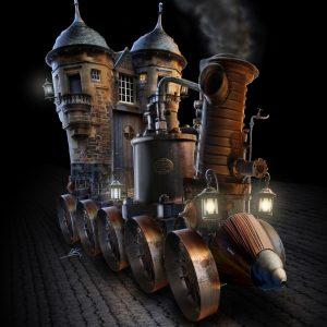 Dizary stoomkasteel steampunk