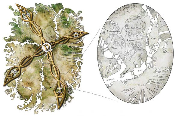 Landkaart van de wereld van Dizary
