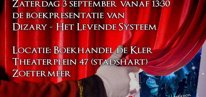 De boekpresentatie van Dizary het levende systeem bij boekhandel de Kler 3 september in zoetermeer