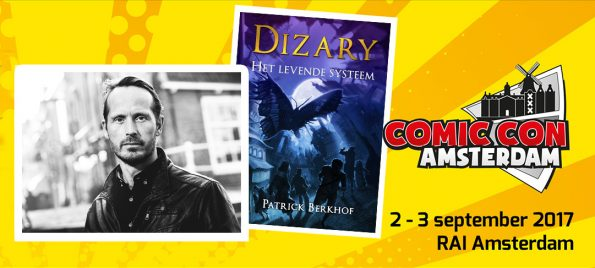 Dizary staat op de Comic Con in Amsterdam Patrick Berkhof festival fantasy