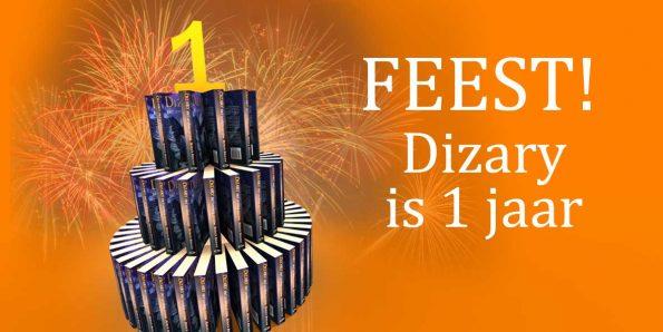 Het fantasy boek Dizary het levende systeem van Patrick Berkhof Kerkhof staat op 1 is een jaar geworden