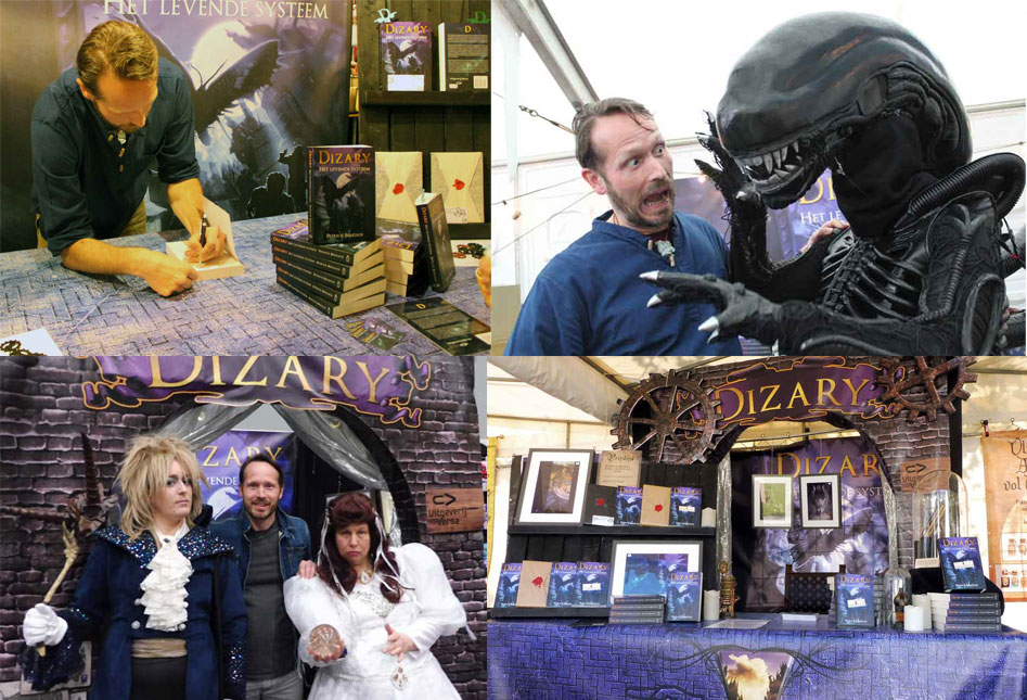 Dizary Het levende systeem is geboren en is nu 1 jaar staat op 1 Patrick Berkhof Comic Con Fantasy Fair Gothic