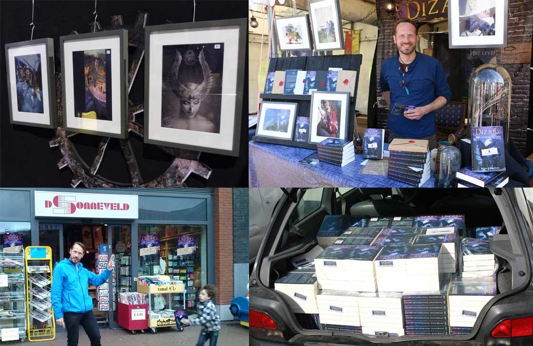 Boekhandel sonneveld zoetermeer boekpresentatie comic con duthc dizary patrick berkhof alien