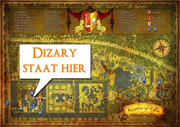 elfia arcen 2017 2016 2015 Dizary fantasy fair comic con labyrinth labyrint kasteeltuinenen