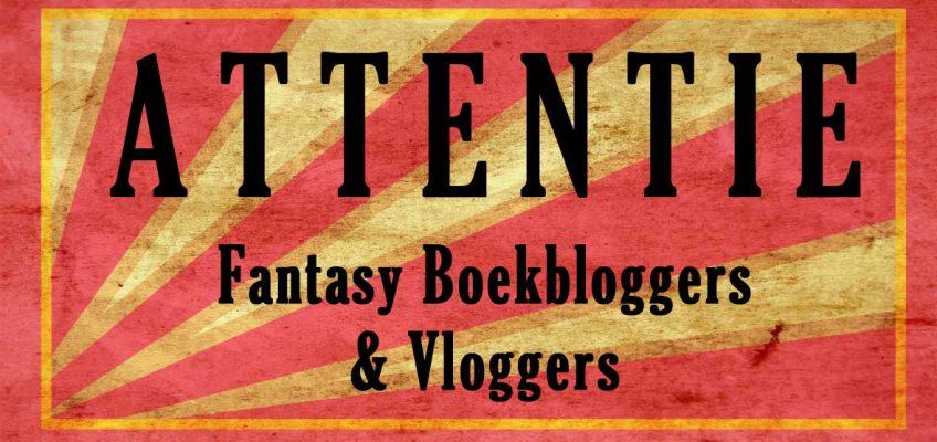attentie boekbloggers en vloggers