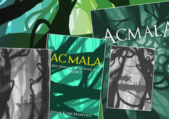 acmala boek cover in de maak illustratie