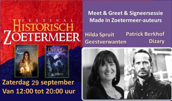 Dizary staat op Historisch Zoetermeer, fantasy made in zoetermeer, Patrick Berkhof, Hilda Spruit