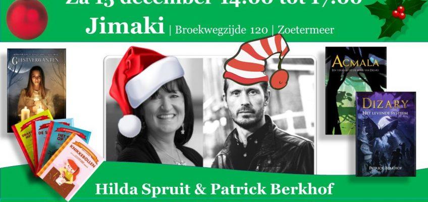 Patrick Berkhof en Hilda Spruit signeren in Jimaki Zoetermeer
