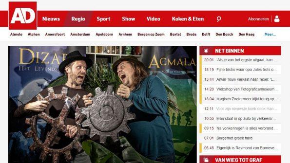 Dizary Acmala Johan Klein Haneveld in het Agemeen Dagblad Delft 2019