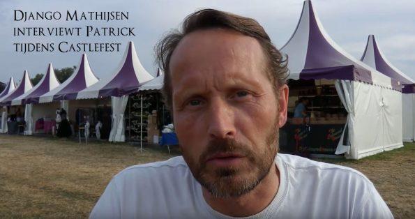 Django Mathijsen interviewt Patrick Berkhof tijdens castlefest 2019