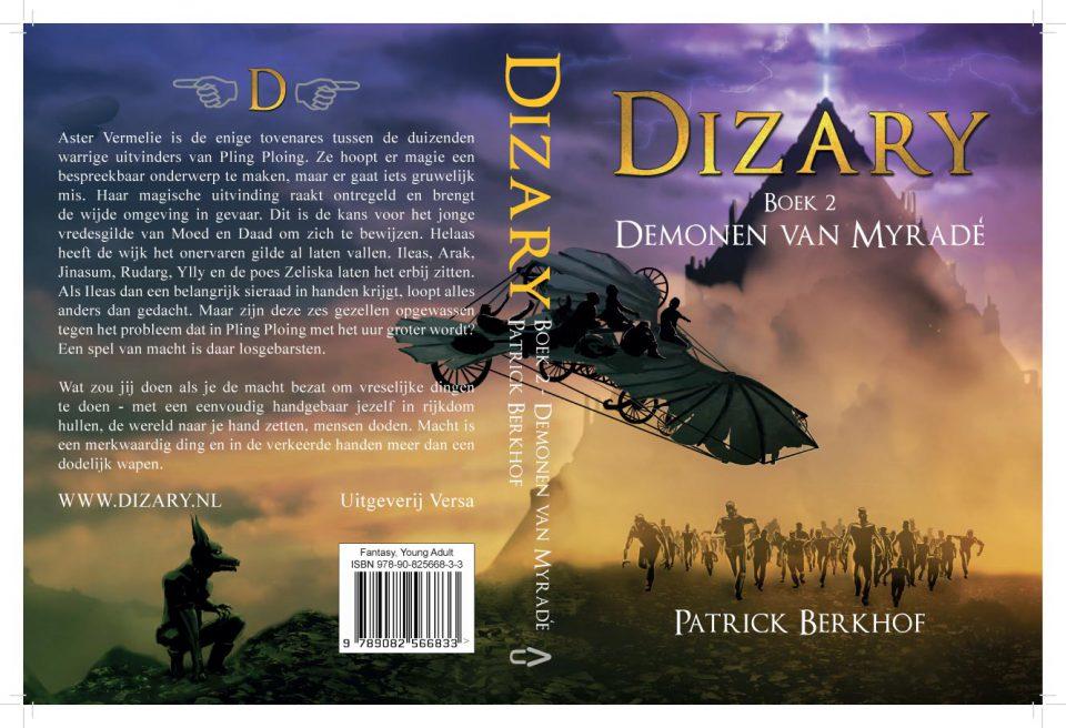 Cover van het boek Dizary boek 2 Demonen van Myradé. Door Patrick Berkhof
