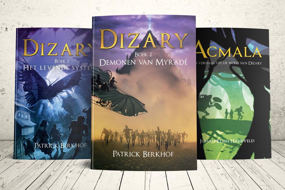 dit zijn de fantastische boeken uit de fantastische wereld van Dizary