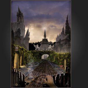 illustratie, illustration, traveler, reiziger, reis, fantasy, steampunk, journey, sunset
