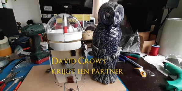 david crowy, animatronic, snow owl