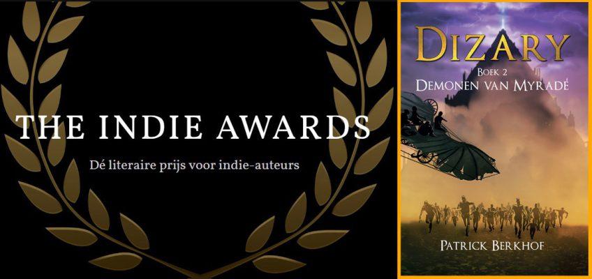 stem op Dizary voor the indie arawrds 2019, beste boek, beste boekomslag