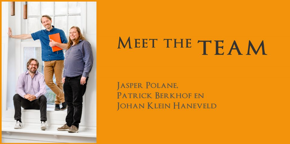 de makers van Project Dizary, Patrick Berkhof, Jasper Polane, Johan Klein Haneveld