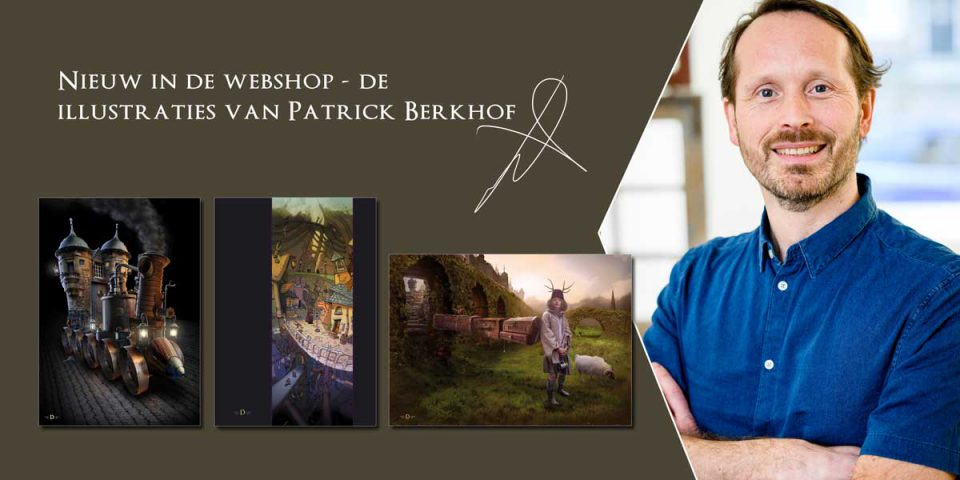 nieuw in de webshop, de illustraties van Patrick Berkhof