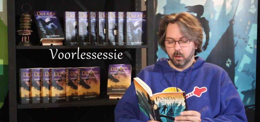 Jasper Polane leest voor uit Panda en het zwarte Dat
