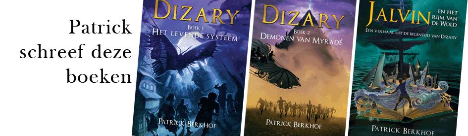 Patrick Berkhof schreef de volgende boeken voor Project Dizary