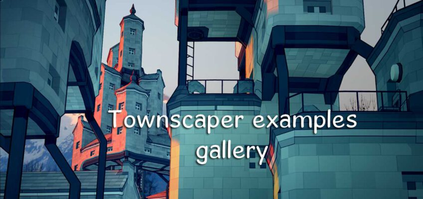 Townscaper example gallery